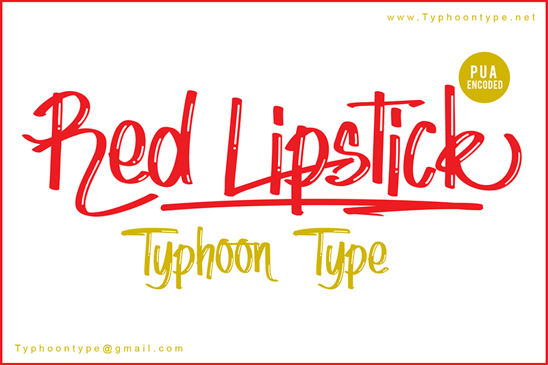 Red Lipstick Font