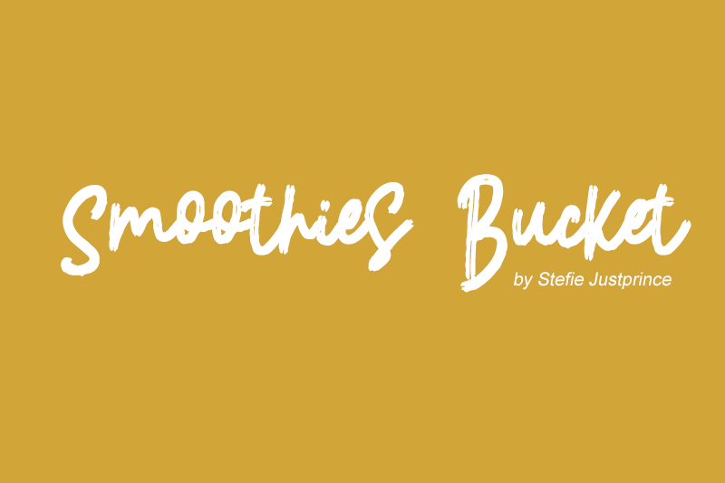 Smoothies Bucket Font